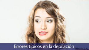 errores en depilación