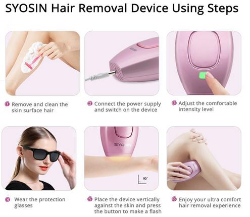 6 pasos clave para usar a depiladora syosin ipl